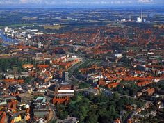 Odense, from the sky. My birth and hometown. Love this city.