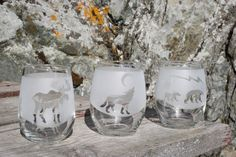 Stemless Wine Glass - Old Town Glassworks | We Love #sandcarving