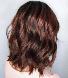 Chocolate Brown With Red Highlights Love My Style In 2019