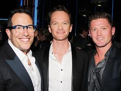 Team Hedwig: director Michael Mayer, star Neil Patrick Harris and choreographer Spencer Liff at the Tony Honors reception