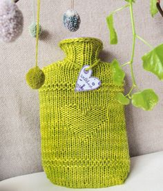 Pattern: HAVE A HEART-HOTTIE,welthase, pattern for a hot water bottle cover, good for beginners, 1skein project!, chunky, pattern, knitting