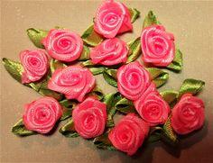 RR-104, $1.25, Bright Salmon Pink Ribbon Roses