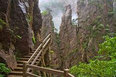 Лестница горы Хуаншань - Путешествуем вместе