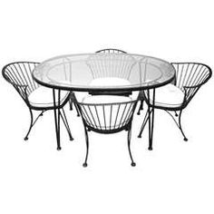 Dining Set by Woodard Pinecrest Line, American, 1950s