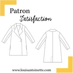 Louis Antoinette - manteau Satisfaction - patron pochette : 15,90€