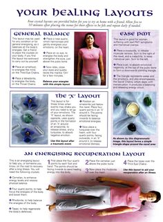 Crystals & Stones:  Your #Healing Layouts.