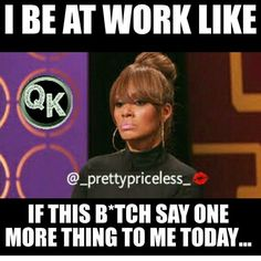That moment at work..