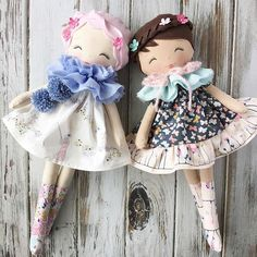 Just the sweetest lil pair  #etherealspringcollection #comingsoon #spuncandydolls #handmadedolls #clothdolls #fabricdolls #dollmaking #dollmaker
