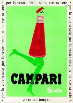 Vintage Italian Posters ~ Fortunato Depero & Matteo Ragni, Campari Soda Bottle  #Vintage #Italian #Posters