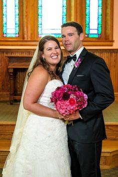 Jennifer and Justin in the Ohio Village Church.  Columbus Ohio Wedding Venue | Ohio Village Wedding  #ColumbusWedding #Wedding #Ohio