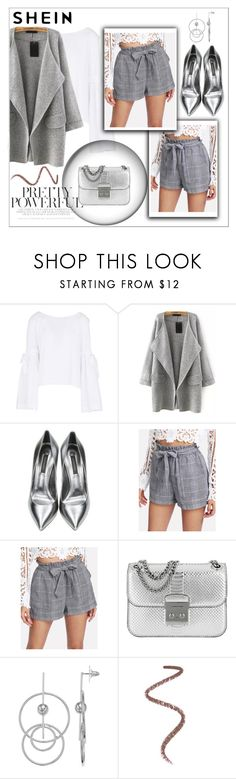 """Self Belted Plaid Shorts"" by sabina-220416 ❤ liked on Polyvore featuring Free People, Casadei, Michael Kors and Ball"