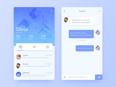 Mondo Inbox and Conversation Interface designed by slient. Connect with them on Dribbble; Mobile Application Design, Mobile Web Design, App Ui Design, Web Design Trends, User Interface Design, Instagram Apps, Desktop Design, Music App, Ui Design Inspiration