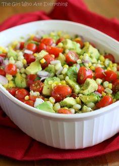 Corn, Avocado, and Tomato Salad