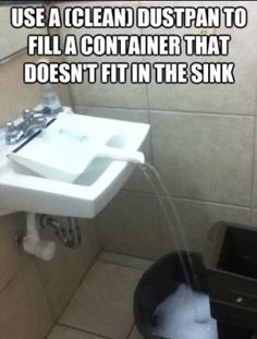 Have to fill up a bucket with out making a mess... Problem solved