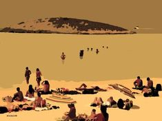 Saatchi Art is pleased to offer the art print, Playa. Edition by ACQUA LUNA. Original Printmaking: Engraving, Digital on Paper. Paper Artist, Is 11, New Media, Printmaking, Saatchi Art, Spain, Art Prints, Landscape, Canvas