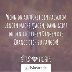 Mehr Sprüche auf: www.girlsheart.de  #ziele #chancen #leben #liebe