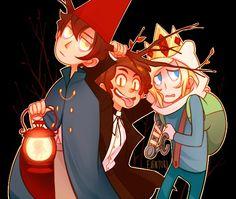 Wirt, Dipper Pines, and Finn