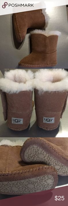 Baby Ugg boots These are in like new almost Perfect condition. My daughter wasn't walking or crawling when she fit in these so there is little to no wear at all UGG Shoes Boots
