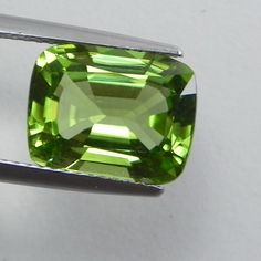 5.11ct Beautiful Green Burma peridot Cushion Loose Gemstones, Natural Gemstones, Green Peridot, Cushions, Nature, Jewellery, Ebay, Beautiful, Throw Pillows