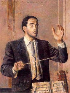 Ataulfo Argenta, 1958. Obra de Antonio López García