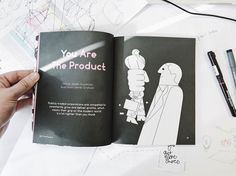 """""""You are the product"""" @weaponsofreason - beautifully designed and illustrated magazine form @stackmagazines #printisntdead #magazine #illustration #product"""