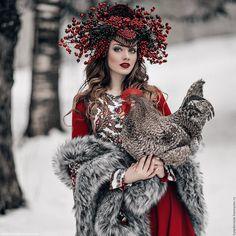 Купить Платье в Русском стиле в макси длине. Russian Style - платье в руском стиле