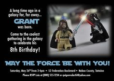 Lego Star Wars Birthday Invitations customize by 7under1designs