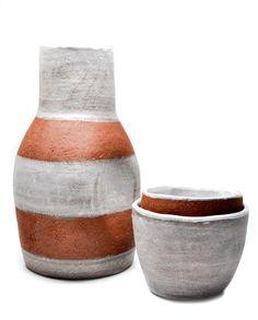 Striped Terracotta Carafe Set