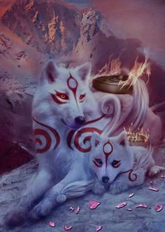 68 Ideas For Fantasy Art Wolf Beautiful Wolf Spirit, Spirit Animal, Fantasy Wolf, Fantasy Art, Anime Fantasy, Anime Animals, Cute Animals, Baby Animals, Mythical Creatures Art