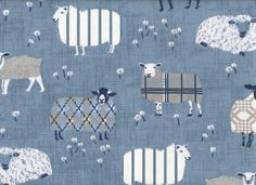 Crazy Sheep in Denim Baby Fabric, Sheep, Kids Rugs, Denim, Kitchen, Home Decor, Cooking, Decoration Home, Kid Friendly Rugs