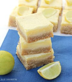 Key Lime Bars that are gluten free, grain free, refined sugar free and TOTALLY delicious!