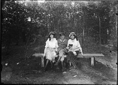 In het bos. 1916. Regionaal Archief Alkmaar.