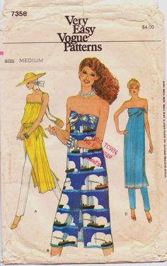 Vintage 70s Very Easy Vogue Pattern 7358 Womens by CloesCloset, $11.00