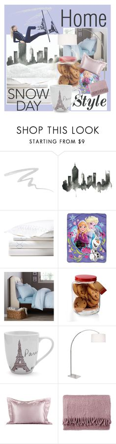 """""""I`m going home on Snowday"""" by anniecy ❤ liked on Polyvore featuring interior, interiors, interior design, home, home decor, interior decorating, Stila, WALL, Disney and Pinzon"""