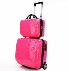 Cute Suitcases & Luggage Sets for Kids | Hello kitty suitcase ...