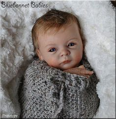 PROTOTYPE-Lindea-Bluebonnet-Babies-REBORN-NEWBORN-Baby-Doll-Gudrun-Legler