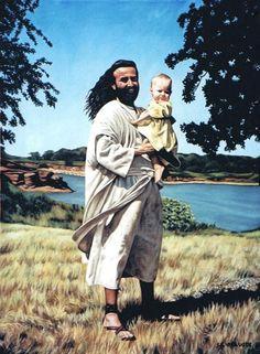 Jesus with Baby by Sheila Ninowski