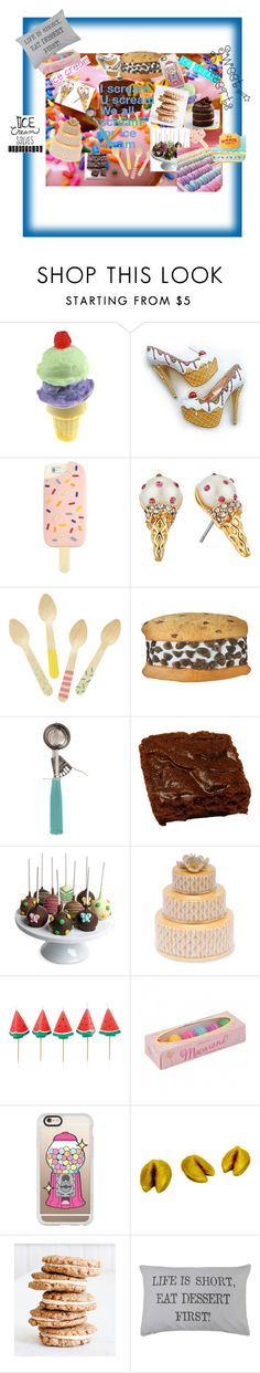 """""""ICE CREAM and desserts!!!"""" by chloeunicorn325 ❤ liked on Polyvore featuring interior, interiors, interior design, home, home decor, interior decorating, Tory Burch, Kate Spade, Iscream and Parlor"""