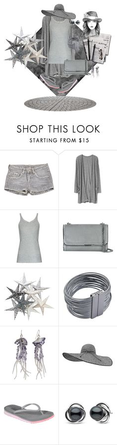 """""""Monochrome 4"""" by stormysmom ❤ liked on Polyvore featuring Paul & Joe, Skin, STELLA McCARTNEY, NOVICA, 7 For All Mankind, Skechers and Trilogy"""