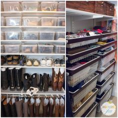 We LOVE Jen's amazing accessories storage of her handbags, scarves, and other accessories! | Organized Jen