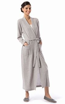 Ladies long brushed cotton flannel dressing gown in lovely tomato ...