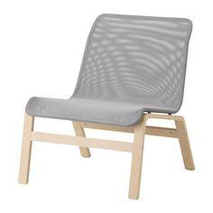 IKEA - NOLMYRA, Sessel, Birkenfurnier/grau, , Lässt sich dank des geringen Gewichts zum Hausputz oder zum Ummöblieren leicht bewegen und umstellen.