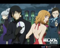 Darker than Black  Drama/Thriller about a surrealistic world where there are paranormal creatures called contractors walking among humans.