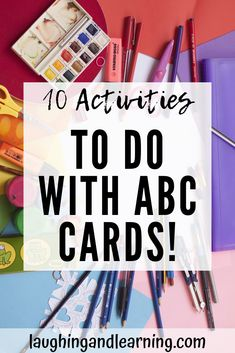 10 Activities To Extend Literacy & Language Learning! Literacy and language development sould be a key factor in learning. Here are 10 fun and engaging literacy and language activities with ABC cards. Printable Activities For Kids, Alphabet Activities, Language Activities, Hands On Activities, Kindergarten Activities, Educational Activities, Preschool Activities, Abc Cards, Infant Lesson Plans