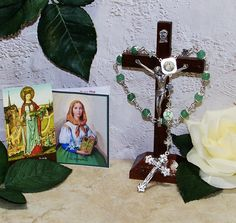 Unbreakable One-Decade Catholic Rosary of St. Dymphna - Patron Saint of Epileptics, Therapists, Rape Victims and People w/ Nervous Disorders by foodforthesoul on Etsy