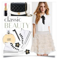 """""""Contemporary Classic"""" by ivansyd ❤ liked on Polyvore featuring Chanel, Forever 21, Converse and contemporary"""