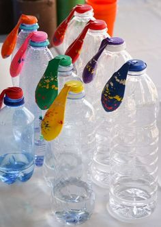 Fun experiment at a science birthday party! See more party planning ideas at CatchMyParty.com!