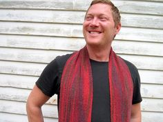 Berry Handwoven Scarf by janirosehandwovens on Etsy, $55.00