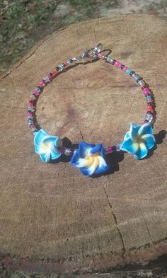 Hey, I found this really awesome Etsy listing at https://www.etsy.com/listing/518672616/boho-hippy-bracelet-glass-and-polymer