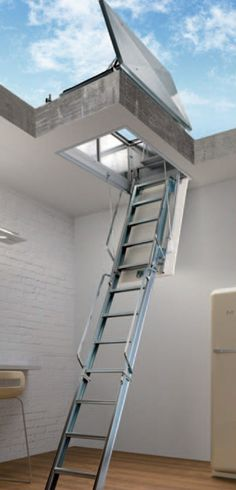Roof Terrace loft ladders from Stair Solutions